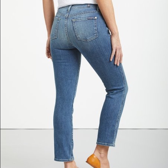 7 For All Mankind Denim - 7 for all mankind Edie cropped jean